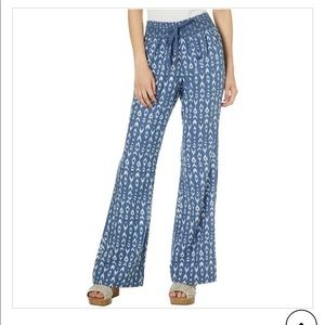 Flowy blue beach pants